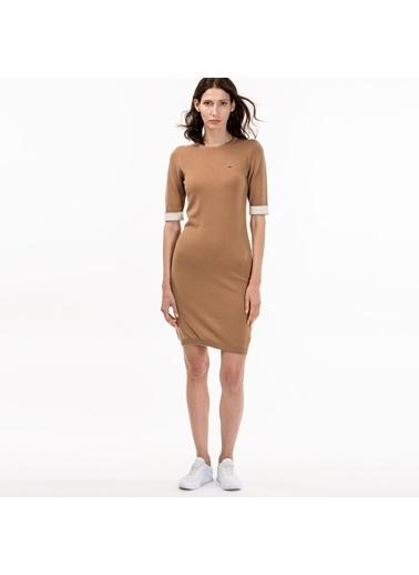 Yarım Kollu Kısa Dar Elbise-Lacoste
